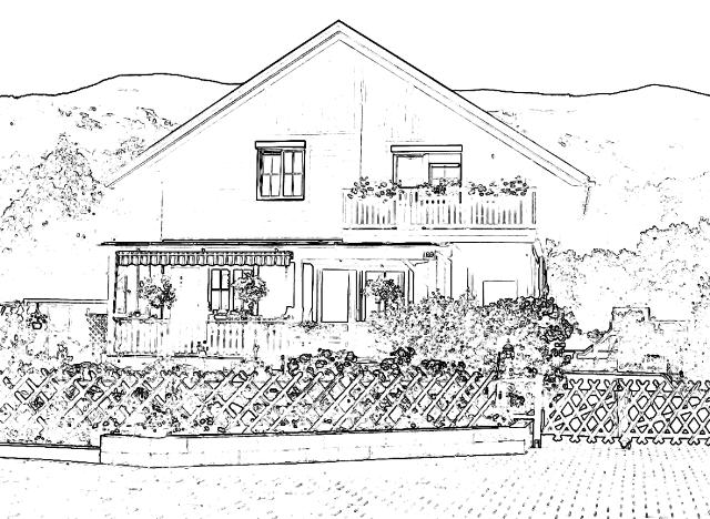 Haus Zeichnung - 640x480